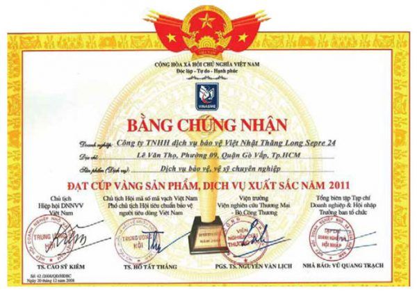 bang khen - chung nhan